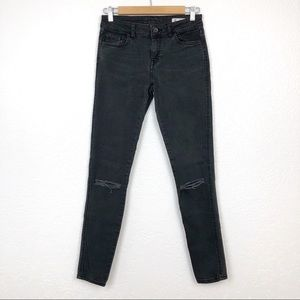 ZARA Jeans, Fit: MidRise Skinny, Faded Black 4